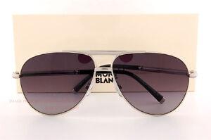Brand New MONT BLANC Sunglasses MB 517S 517 16B Silver Gray Gradient ... 986f52c667