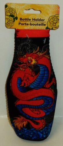 Isotherme élégant porte-bouteille Colorfull Dragon Design Fermeture Éclair Dos Multi Color