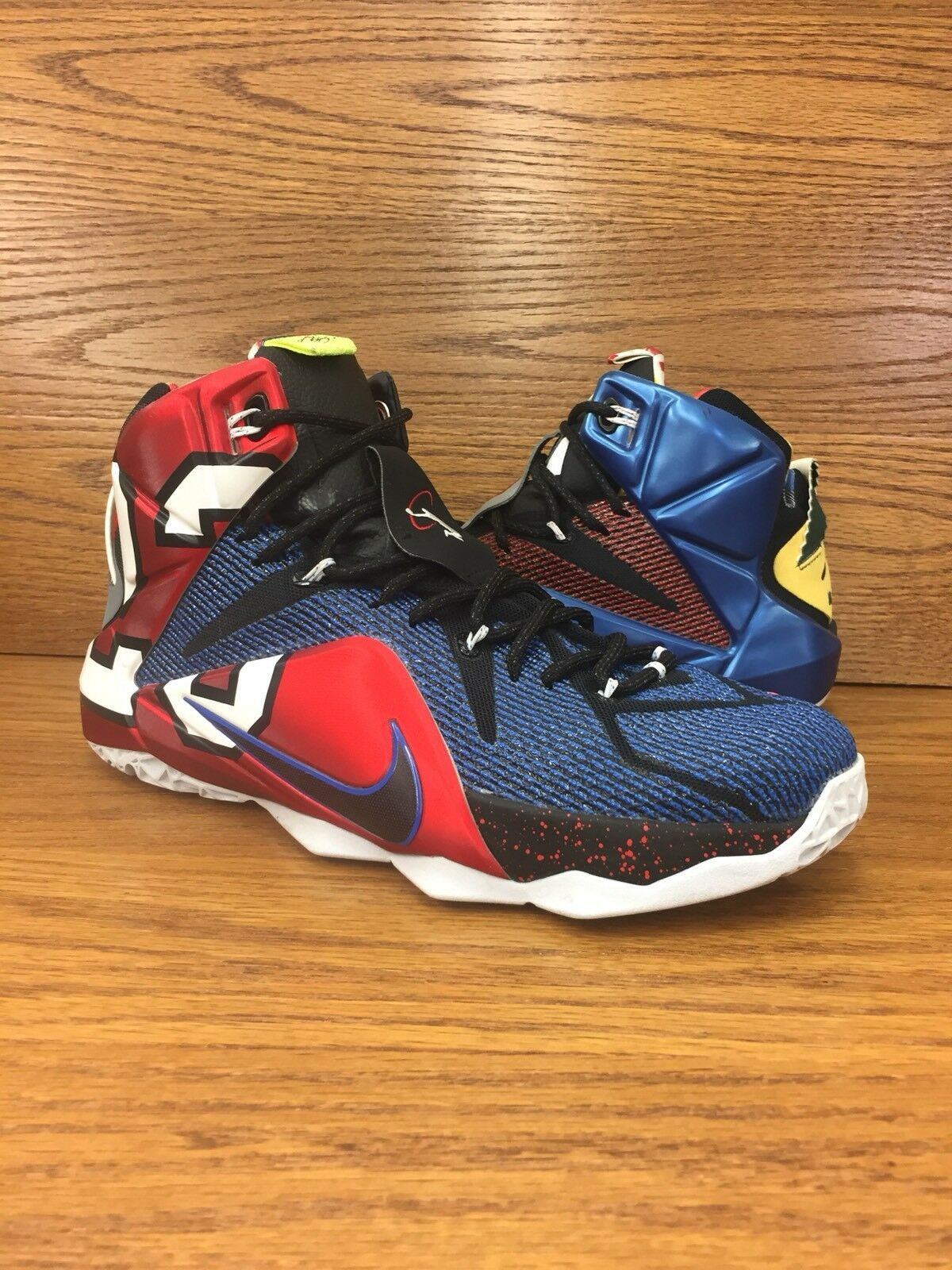 Nike Lebron 12 SE What The Multicolor Uomo Basketball Shoes Size 10 VNDS