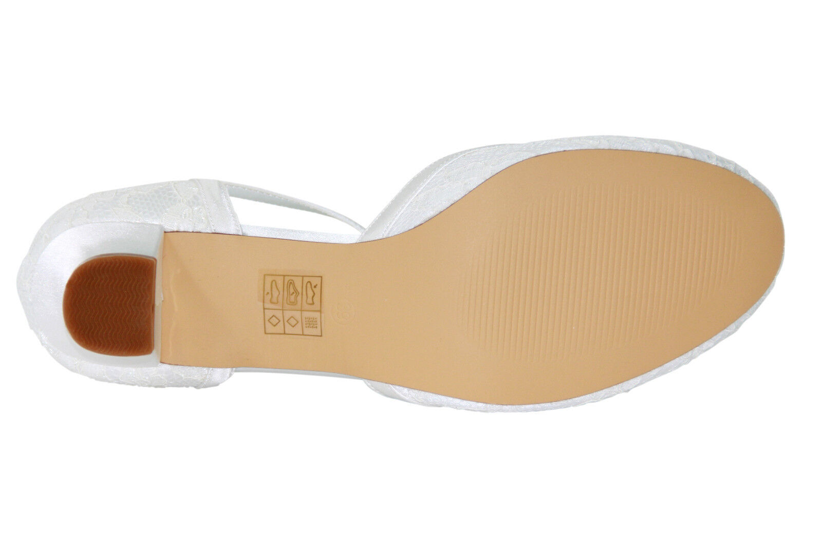 HBH Satin Brautschuhe, ausgepolstert, mit Lederriemchen, 3cm Absatz, Absatz, Absatz, Farbe Ivory | Moderne und elegante Mode  47af4a