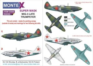 Montex-1-32-Mig-3-Paint-Mask-for-Trumpeter-kits