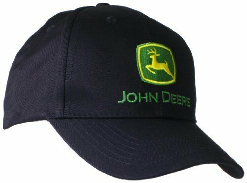 John Deere Men/'s Trademark Logo Core Baseball Cap Hat Black or Green