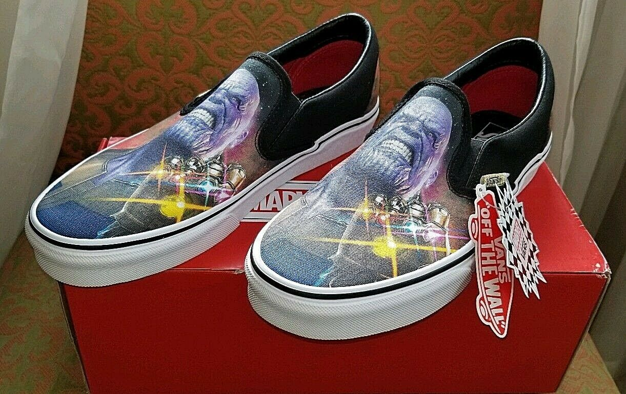 INFINITY WAR THANOS  Marvel Vans LE Classic Slip-ons shoes (Men's 9.5   w 11)