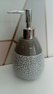 NEW-Grey-Soap-Dispenser-Ceramic-Lotion-Pump