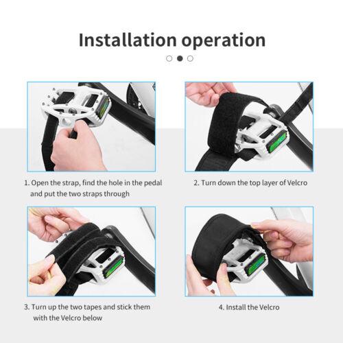 2× Fixed Gear Road Bike Adhesive Pedal Toe Clip Strap Belt  for Fixed Gear Bike