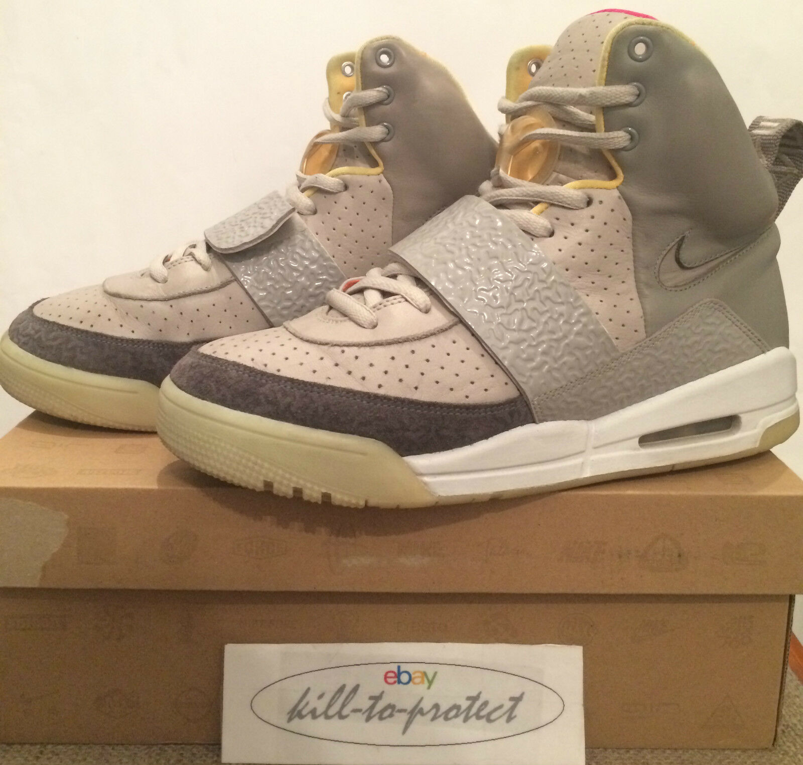 (USED) NIKE AIR YEEZY 1 One ZEN GREY US8 UK7 Tan 366164-002 By Kanye West 2009