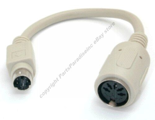 """6/""""in Keyboard Adapter PS2 6in Male to AT 5pin DIN Female Adaptor Cable//Cord//Wire"""