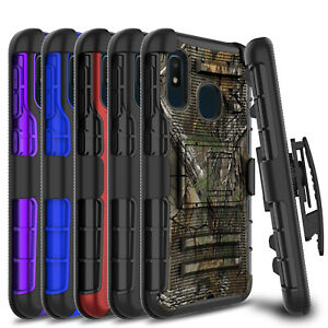 For-Samsung-Galaxy-A10e-Case-Shockproof-Rugged-Hard-Kickstand-Clip-Holster-Cover