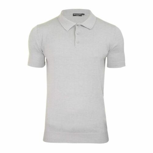 POLO Lavorato a Maglia Da Uomo Brave Soul Columbus con colletto manica corta Maglione T Shirt