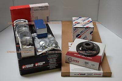 Chevy 3.0/181 MARINE 140 Engine Kit Pistons+Rings+Gaskets+Timing+Push Rods 2-PC