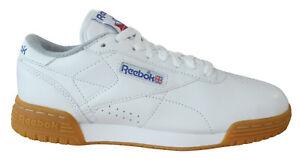 huge selection of b2de8 71d2e Details about Reebok Classic Exofit Lo R12 Mens Trainers Lace Up White  Leather M45030 B3A