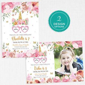 Unicorn-Invitation-Personalised-Photo-Birthday-Party-Confetti-Invite-2-Designs