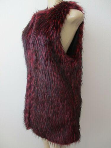 Ermeløs S Fuzzy Burgundy Størrelse Vest Faux Kane Nwt Fur Karen wq4nZC8X