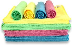 24 x Large Valeting Waxing Detailing Polishing Microfibre Cleaning Cloths CLE010