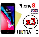 3x ULTRA HD CLEAR SCREEN PROTECTOR COVER GUARDS FILM FOR APPLE IPHONE 8