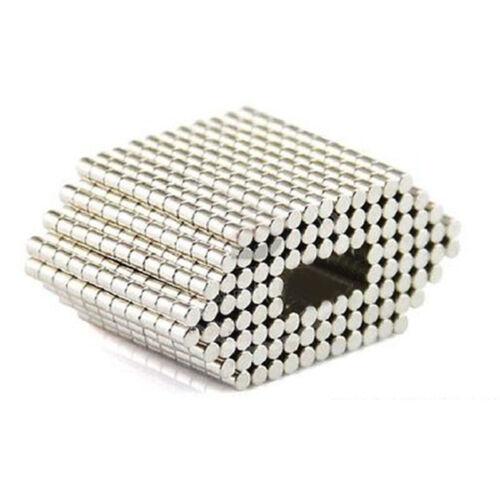 200 Stück Neodym Runde Magnete N50 Scheibe Supermagnete doppelt vernickelt 2x2mm
