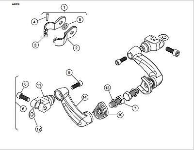 Chrome 1 Stiletto Shape Foot Peg For Honda Goldwing Vtx1300 Shadow
