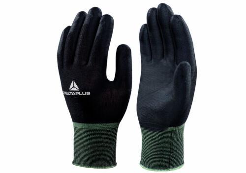 Delta Plus Venitex VV702NO Hestia Black Polyamide Knitted Safety Work Gloves PPE