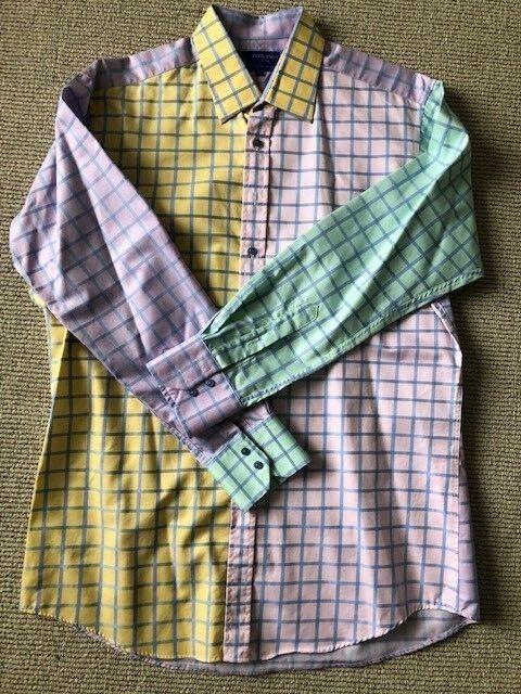 Men's Grosvenor Shirt Company Long Sleeve UK England Shirt Multi color XL