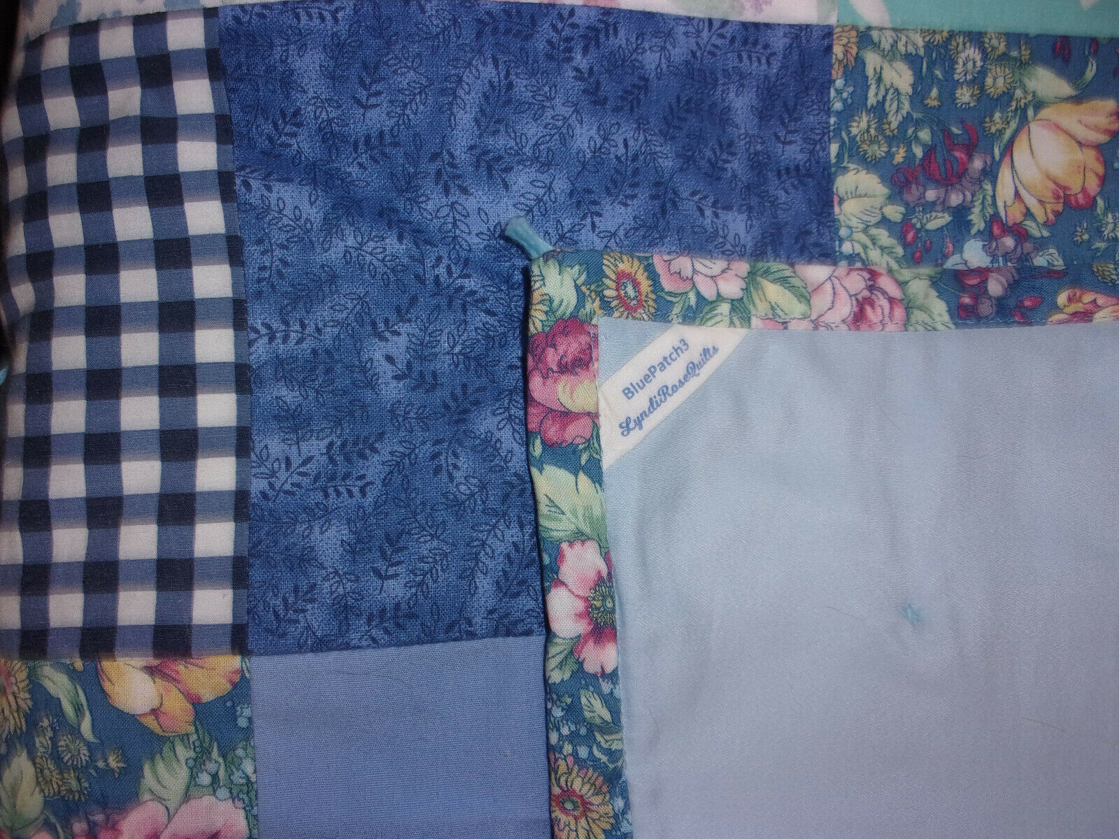BlauPatch, a hand-made, hand-tied Cotton Quilt