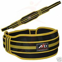 Ard Champs™ Neoprene Weight Lifting Belt Back Support Gym Belts 5 Wide Yellow
