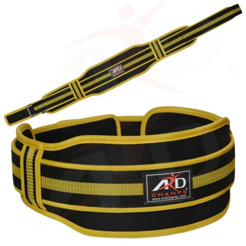 "ARD CHAMPS™ Neoprene Weight Lifting Belt Back Support Gym Belts 5/"" Wide Yellow"