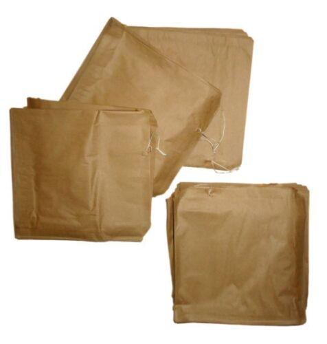 """500 x sacs en papier marron enfilées 14 /""""x 18/"""" à emporter"""