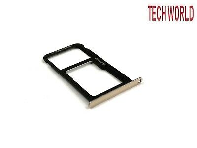 gold Special Section Huawei P9 Lite Sim Tray Holder Uk Stock Lustrous