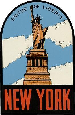 1 #657 Pennsylvania Liberty Bell Penn Luggage Label Travel Decal Sticker Repro