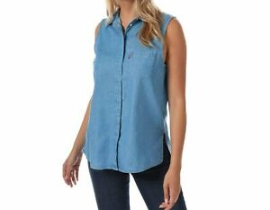 LEVI-039-S-CORALIE-SLEEVELESS-Shirt-Women-039-s-M-L-Authentic-BRAND-NEW-396950000