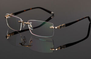 Rimless Glasses Durability : Designer Rimless Frames Reading Glasses Readers Eyeglass ...