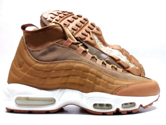 NIKE AIR MAX 95 SNEAKERBOOT FLAXFLAX ALE BROWN SAIL SIZE MEN'S 8.5 [806809 201]