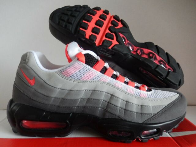 premium selection 491e2 b42a4 Nike Air Max 95 OG Solar Red Size 10 White Granite Dust At2865 100