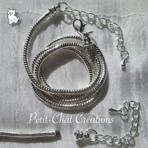 CHAINE-45CM-5CM-COLLIER-SERPENT-METAL-ARGENTE-COMPATIBLE-MOUSQUETON-DEVISE-G12
