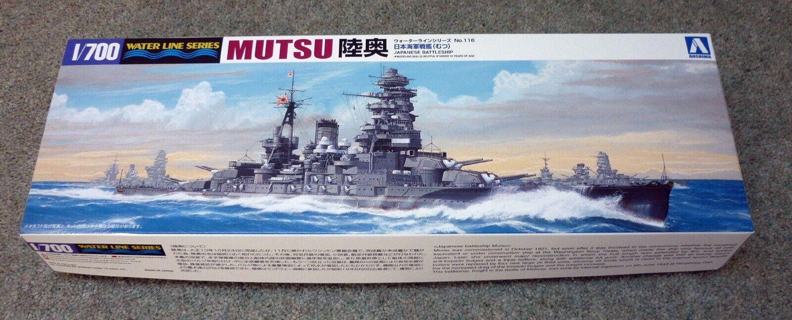 Aoshima 1 700 waterline MUTSU (WW2 Battleship) kit