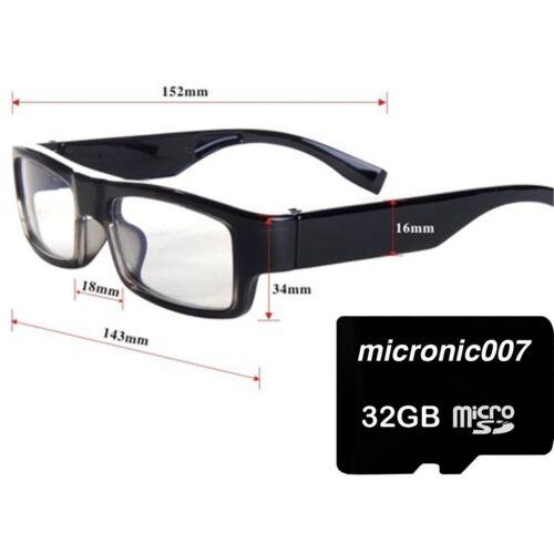 A3000 PROFESSIONAL SPY GLASSES FULL HD 1080P VIDEO CAMERA RECORDER /& 5MP PHOTO