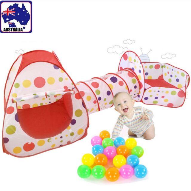 3in1 Kids Toddler Waterproof Folding Play Tent Playhouse Tunnel Pop-Up GTEN12345