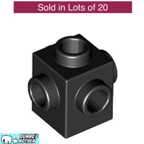 Black Brick Modified 1 x 1 1x1 with 4 Studs on opposite Sides NEW 4733 LEGO 20