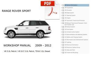 land rover range rover sport 2009 2010 2011 2012 service repair rh ebay com 2012 range rover sport manual 2011 range rover sport manuel