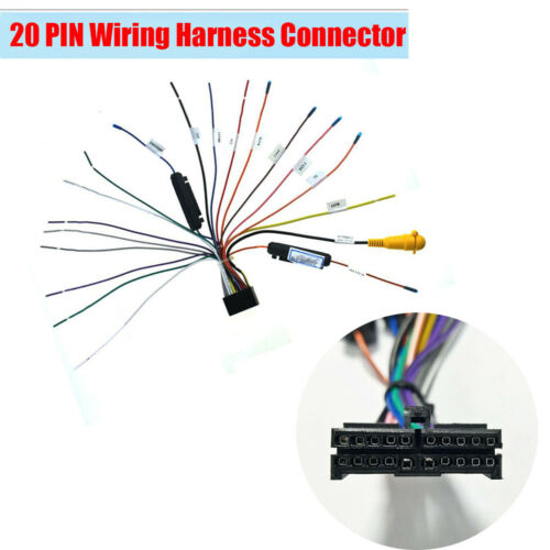 1x 20 Pin Car Stereo Radio Wire Harness Plug for Android Multimedia Radio Player