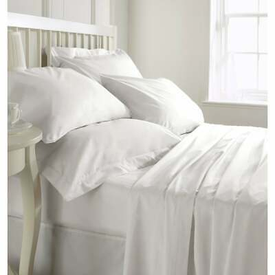 """Soft Stripe Fitted Sheet 1000 Thread Count 100/% Cotton 9/"""" Deep Pocket"""