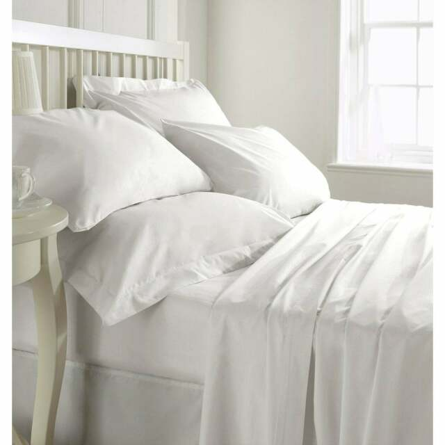 Gray Solid King Size 4 Piece Sheet Set 1000 Thread Count 100/% Egyptian Cotton