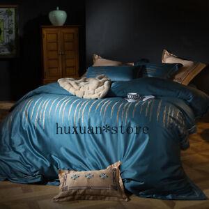 4Pcs-Egypt-Cotton-Luxury-Bedding-Set-Duvet-Cover-Sheet-Pillowcases-Queen-King-Sz