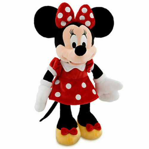 """NWT Disney Store Minnie Mouse Plush Red Polka Dots Small Stuff Animal 12/"""" H Toy"""