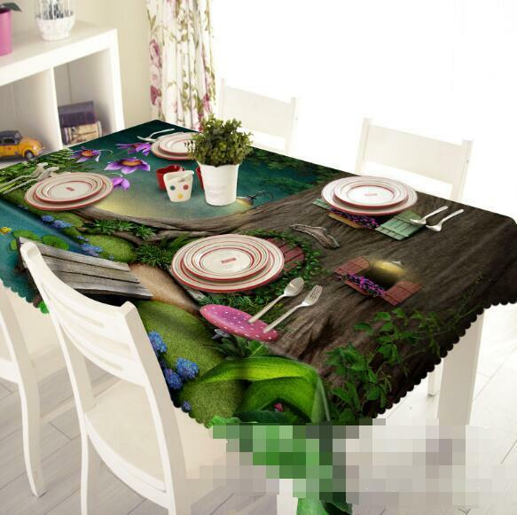 3D Tree House 209 Tablecloth Table Cover Cloth Birthday Party Event AJ WALLPAPER