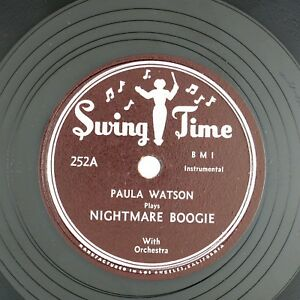 PAULA-WATSON-Nightmare-Boogie-Pretty-Papa-Blues-10IN1952-BLUES-NM-LISTEN