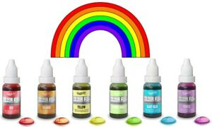 Rainbow-Dust-Colour-Flo-Concentrated-Liquid-Food-Air-Brush-Colouring-6-Colours