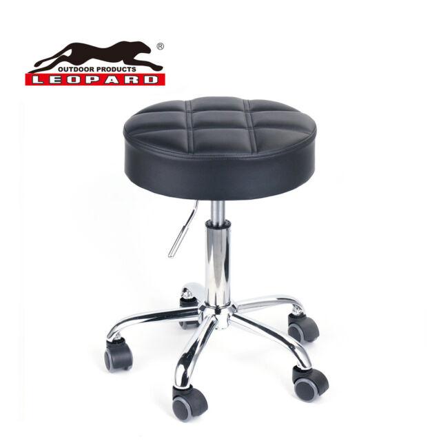 Awe Inspiring Leopard Round Rolling Stools Adjustable Work Stool With Wheels Creativecarmelina Interior Chair Design Creativecarmelinacom