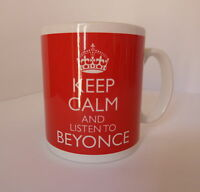 Keep Calm and Listen To Beyonce Mug Carry On Retro Style Gift Present Cup Music