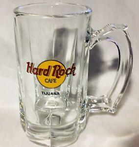 Hard-Rock-Cafe-Heavy-Glass-Beer-Mug-Tijuana-Mint-Condition
